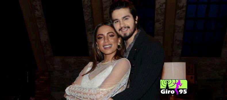 Com look transparente, Anitta grava dueto com Luan Santana