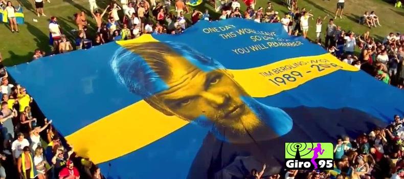 Bandeirão do Avicii entra em leilão para ajudar ONG