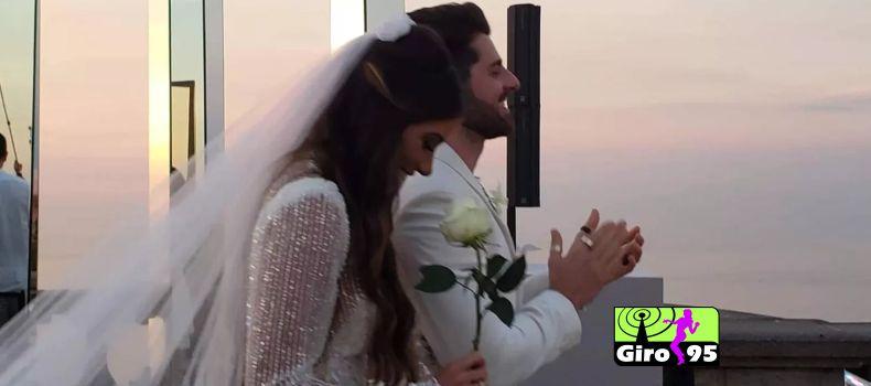 Alok se casa com Romana Novais na manhã desta terça feira