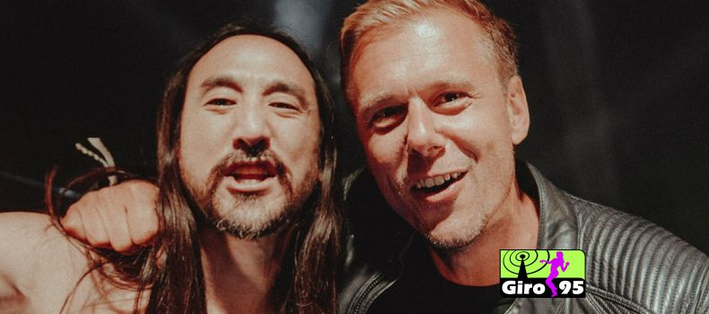 "Armin van Buuren e Steve Aoki lançam a primeira collab original: ""Music Means Love Forever"""